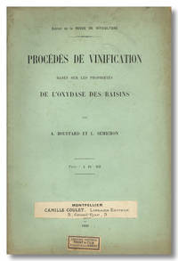 PROCÉDÉS DE VINIFICATION BASÉS SUR LES PROPRIÉTES DE L'OXYDASE DES RAISINS [wrapper title]