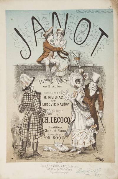Paris: Brandus & Cie , 1881. Large octavo. Original publisher's dark pink illustrated wrappers. 1f. ...