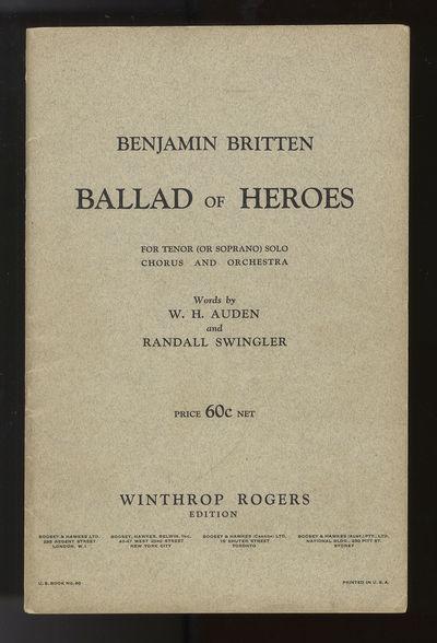 London: Winthrop Rogers ... Boosey & Hawkes Ltd. , 1939. Octavo. Original publisher's gray printed w...