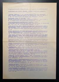 [A Concrete Poet's Auto-Bibliography]. Lieferbare multiples, Mappen, Bücher, Kataloge, Plakate