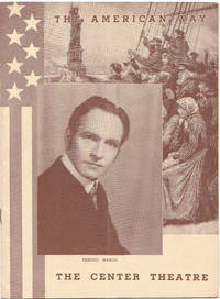 image of Frederic March in the American Way Souvenir Playbill
