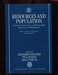 Resources and Population Natural, Istitutional and Demographic Dimensions of Development