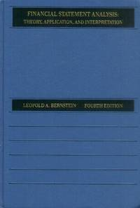 image of Financial Statement Analysis; Theory, Application and Interpretation (4th Edition)