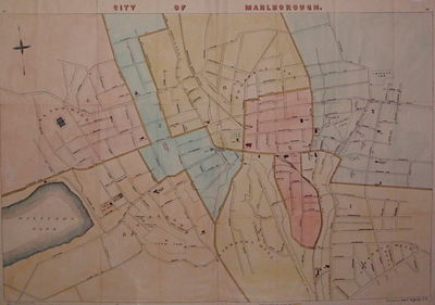 Boston: Walker Lith. & Pub. Co. unbound. very good. Case Map. Lithograph with hand coloring. Image m...