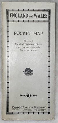 image of England and Wales:  Pocket Map Showing Political Divisions, Cities and Towns, Railroads, Waterway, Etc. [Price 50 cents]