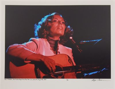 Morrison, 1979. Limited edition (1 of 6). Description: Joni Mitchell at Red Rocks Amphitheatre in Mo...
