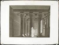 Esne (Latopolis.)  Vue Perspective de l'Interieur du Portique.
