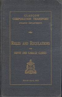 Glasgow Corporation Transport Rules and Regulations for Depot and Garage Staff 1933