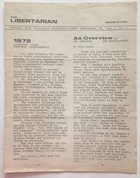 image of The Libertarian Newsletter. Vol. 1 no. 2 (October 1972)