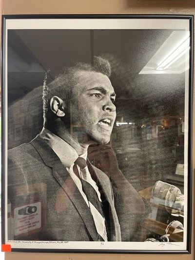 Chicago, 1967. Limited Edition, #1/6. Photo of Muhammad Ali taken at the University of Illinois on M...