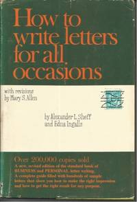 How To Write Letters For All Occasions By And Edna Ingalls