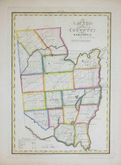 New York: David H. Burr, 1829. unbound. Rawdon Clark & Co.. Map. Copper plate engraving with origina...