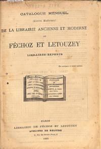 Catalogue Mensuel 1882 : Catalogue Spécial De Livres Modernes by FECHOZ & LETOUZEY - LIBRAIRIE- PARIS - from Frits Knuf Antiquarian Books (SKU: 77957)