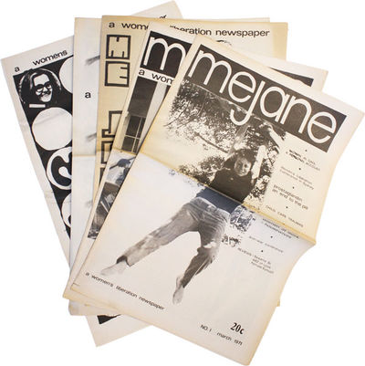 Sydney, NSW: Mejane, 1971. First Edition. Five tabloid issues (43cm); photo-illustrated newsprint wr...