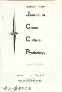 CREATIVITY: A CROSS-HISTORICAL PILOT SURVEY; Reprint from Journal of Corss-Cultural Psychology by  R.E. Hildreth and J.M. Schaefer  M.J. Fried - 1971 - from Alta-Glamour Inc. and Biblio.co.uk