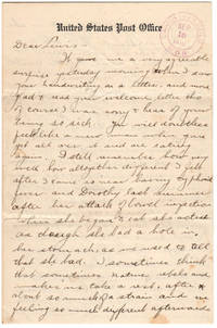 12-page Letter from Canon City, Colorado to North Adams, Massachusetts referencing the Colorado National Guard, the Battle of Ludlow, Mexican Border Service, a Strike in North Adams Massachusetts, Auto Touring, and Infantile Paralysis