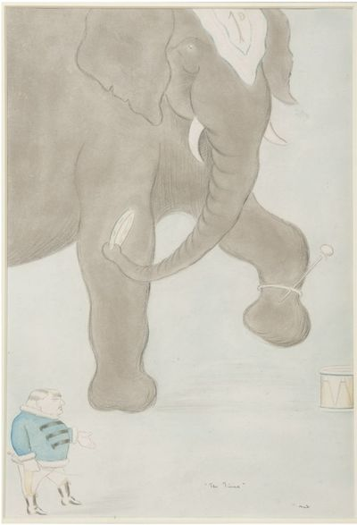 , 1914. Gouache and wash over pencil, titled and signed