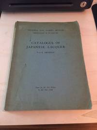 image of Catalogue of Japanese Lacquer: Part I. General
