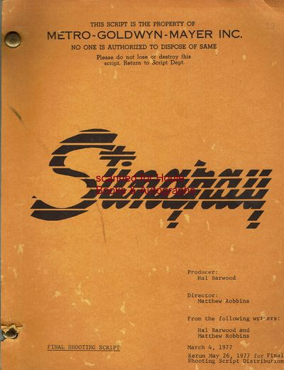 Final shooting script with original working title