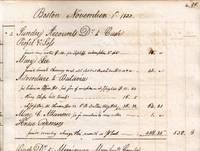 Account Book of Samuel Gray, Boston,1825 - 1843.
