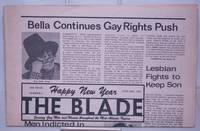 image of The Blade [aka The Gay Blade & Washington Blade] serving gay men and women throughout the Washington-Baltimore area vol. 7, #1, January, 1976: Bella Continues Gay Rights Push