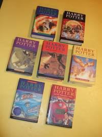SEVEN Volumes: Harry Potter & the Philosopher's Stone ( AKA: Sorcerer's Stone ); Chamber of Secrets; Prisoner of Azkaban; Goblet of Fire; Order of the Phoenix; Half Blood Prince; Deathly Hallows --book 1, 2, 3, 4, 5, 6, 7  ( Philosophers )