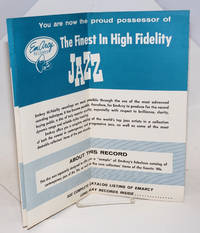 image of Liner from a sample disc [disc not present]: You are now the proud possessor of The Finest In High Fidelity JAZZ.. See complete catalog listing of EMARCY long play records inside.. 12