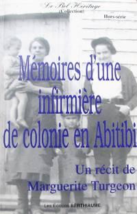 image of Mémoires d'une infirmière de colonie en Abitibi