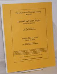 image of The Gay/Lesbian Historical Society presents The Balkan Sworn Virgin (a transgender role) [handbill] a talk with slides by Jeffrey M. Dickemann Sunday, May 17, 1998