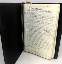 [MANUSCRIPT] [MEDICAL] Notebook of a Navy Corpsman in San Francisco During the Spanish Flu Outbreak