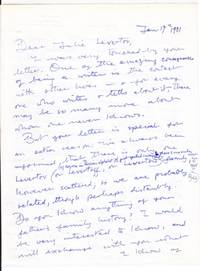 Holograph Letter Signed by  Denise Levertov - Paperback - Signed - from Revere Books, ABAA & IOBA (SKU: 12181)