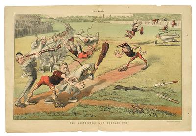 "San Francisco: Schmidt Label & Litho Co., The Wasp, Aug. 15, 1885 Folio 13 3/4 x20 1/4"", pp. 7-10,..."