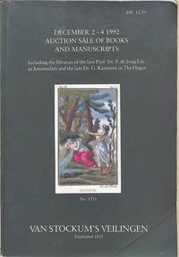 Auction Sale of Books and Manuscripts 2.-4.December 1992. : Incl. The  Libraries of the Late Prof.Dr.F.de Jong Edz. In Amsterdam and the Late  Dr.G.Kazemier in The Hague.