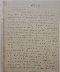 """Excellent content Autographed Letter Signed """"Geo. Evans by  George (1797 - 1867) EVANS - Signed - 1835 - from Argosy Book Store and Biblio.com"""