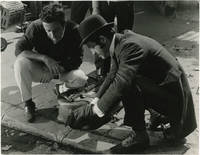 image of The Thief of Paris [Le Voleur] (Two original double weight photographs of Louis Malle, Paul Belmondo, and others from the set of the 1967 French film)