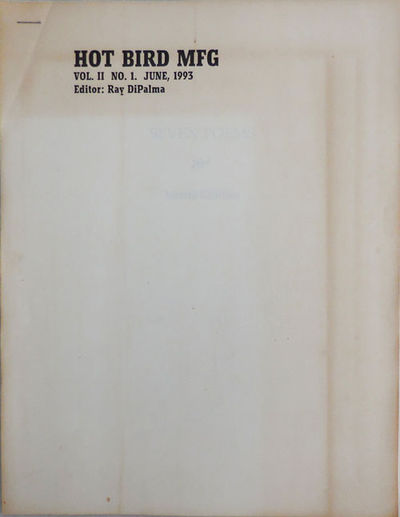 No Place: Hot Bird MFG, 1993. First edition. Paperback. Very Good. 4to. Simple 8 1/2 x 11