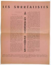 Les Surréalistes à Garry Davis [exemplaire sur papier saumon]
