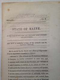 State of Maine.  AN ACT to authorize a lease of the Atlantic and St. Lawrence Railroad.