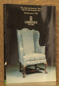 FINE AMERICAN FURNITURE, SILVER, FOLK ART AND DECORATIVE ARTS, CHRISTIE'S NY JUNE 1989