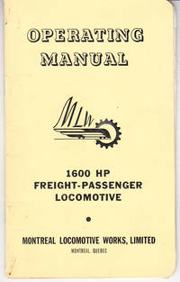 Operating Manual TP-402 for 1600 HP Diesel-Electric Road Freight-Passenger Locomotive