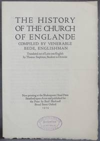 image of Prospectus | Shakespeare Head Press] THE HISTORY OF THE CHURCH OF ENGLANDE, Compiled by Venerable Bede, Englishman