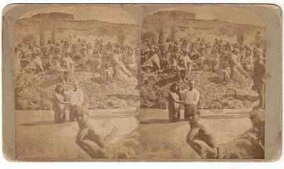Photograph. Very good. Stereoview . Tan mount. C. R. Savage backstamp. Several minor stains to the s...