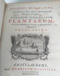 Rariorum Africanurum Plantarum by Jan Burmann - First - 1738 - from Viewpoint Books and Biblio.com