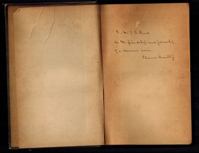 Boston: Arena Publishing Company, 1895. SIGNED AND INSCRIBED BY AUTHOR. On front end page, inscripti...