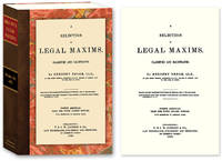 A Selection of Legal Maxims, Classified and Illustrated. 8th Am. ed..