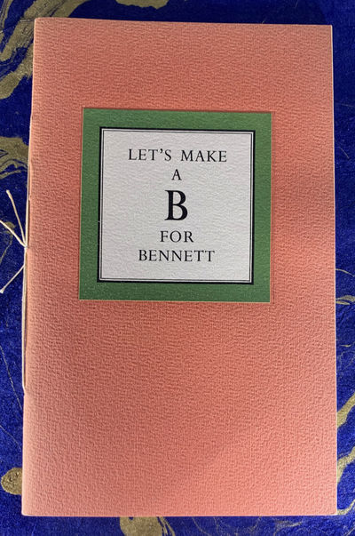 Friends of Paul Bennett, 1953. Paperback. Very Good. Series: Typophiles Monograph, No. 40. LIMITED E...