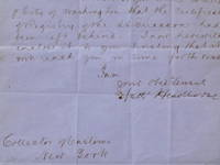 "Autograph Letter signed (""Nath' Hawthorne""), to ""Dear Sir"" (""Collector of Customs / New York"")"
