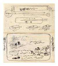 """Illustrated manuscript on paper, entitled, from manuscript label on upper cover, """"Bonkei zushiki"""" [""""Miniature Garden on a Tray, Explained""""]"""