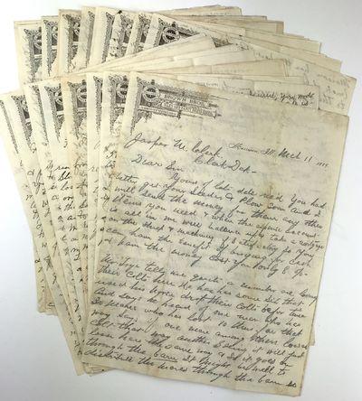 Morrison, Ill, 1892. Very good.. Twenty-three letters, pp. total. Folio sheets. Old fold lines, mino...