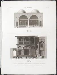 Le Kaire. Plan et Elevation d'un Abreuvoir pres la Porte Appelee Qara Meydan. Plane et Elevation de la Citerne Appelee Sibil Aly Agha.